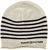 Tommy Hilfiger Damen Strickmütze Tommy Stripe Beanie, Beige (Turtledove 406), One Size (Herstellergröße: OS)