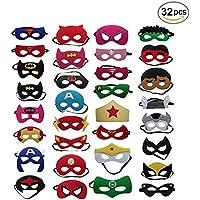 BJ-SHOP Máscaras de Superhéroe,Party Favors Half Eye Masks Felt Elastic para niños Party Bags Fillers