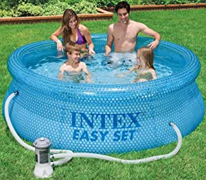 Intex 54912gs easy set clearview piscine env 244 x 76 cm for Piscine intex amazon