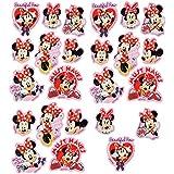 """Set: Aufkleber / Sticker - """" Disney Minnie Mouse """" - selbstklebend - für Mädchen - Mäuse / Maus Stickerset Kinder - z.B. für Stickeralbum / Figuren - Playhouse Mickey rosa Schleife Herz"""