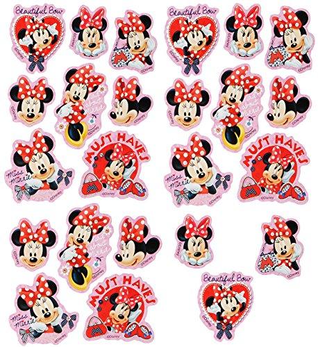 Unbekannt 24 TLG. Set _ Aufkleber / Sticker -  Disney Minnie Mouse  - selbstklebend - für Mädchen - Mäuse / Maus Stickerset Kinder - z.B. für Stickeralbum / Figuren -..