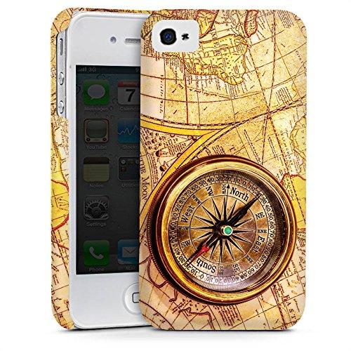 Apple iPhone SE Housse Outdoor Étui militaire Coque Boussole Carte du monde Carte Cas Premium mat