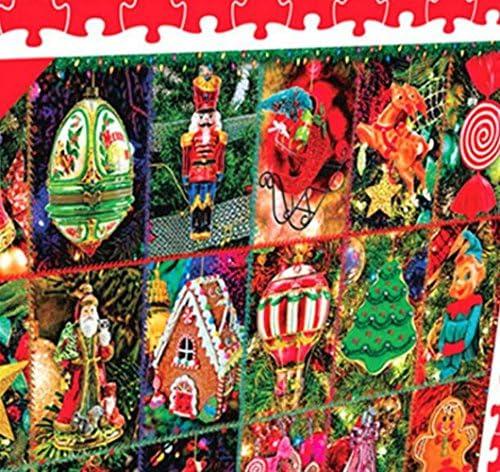 Puzzle éducatif pour enfants enfants enfants Environ 1000 Pièces Papier Voir Puzzle Éducation Apprendre Jouet Fantastique Cadeaux (Noël coloré) | Authentique  f8f6da