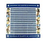 HAAC Tischdecke Bayern Farbe blau-weiß Rautenmuster für Bierfest, Feste, Fasching, Karneval, Oktoberfest 80 cm x 80 cm