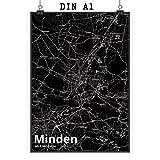 Mr. & Mrs. Panda Poster DIN A1 Stadt Minden Stadt Black -