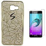 Pheant® [2in 1] Samsung Galaxy A3 (2016) SM-A310F Hülle Glitzer mit Panzerglas (9H Härtegrad,Ultra-klar),Silikon Schutzhülle (Das glitzer Rückseite + Galvanotechnik Stoßrahmen)