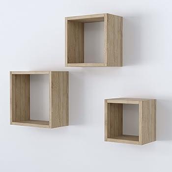Wandregal Cube Holz