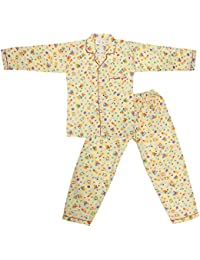 Dhir Fashions Branded Comfortable Premium Value Ultra Soft Cotton Yellow Night Suit