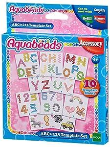 Aquabeads 30518ABC y 123vorlage Juego de Manualidades Escuela