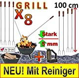 8 Grillspieße für Picknickset Picknick-Grill Campingkocher & Campinggrills !!! MIT...