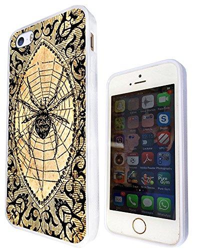 730 - Aztec Pattern Spider Web Design iphone 5 5S Fashion Trend Silikon Hülle Schutzhülle Schutzcase Gel Rubber Silicone Hülle - Weiß (Gucci Web)