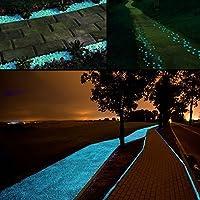 Middletone 100 piedras luminosas piedras fluorescente, se usan para el camino del jardín y la decoración, azul