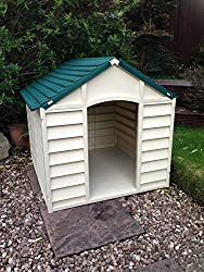 Starplast Dog Kennel Plastic Small Medium Size Easy To Erect And Clean (Beige & Green)