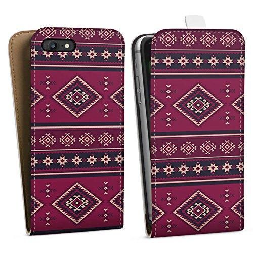 Apple iPhone X Silikon Hülle Case Schutzhülle Ethno Muster Indianer Downflip Tasche weiß