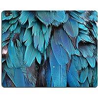 Liili Mouse Pad-Tappetino per Mouse in gomma naturale con immagine ID 33425468 piume colorate motivo: pappagallo piume, decorazione sfondo: Arlecchino