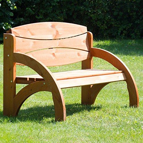 Geschenke 24 Hochzeitsbank mit Gravur, Hochzeit, zum Hochzeitstag oder Jahrestag – Hochwertige Holz Gartenbank mit Personalisierung aus massivem Fichtenholz