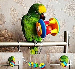 Ecoolbuy Lot de 3Cute Pet Bird Bites jouet Perroquet à mâcher Boule Toys balançoire Cage perruche calopsitte élégante