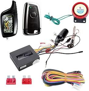 Qualität Steelmate 986 Wo Zwei Wege Motorrad Alarm System Lcd Transmitter Fernbedienung Engine Start Stop Shock