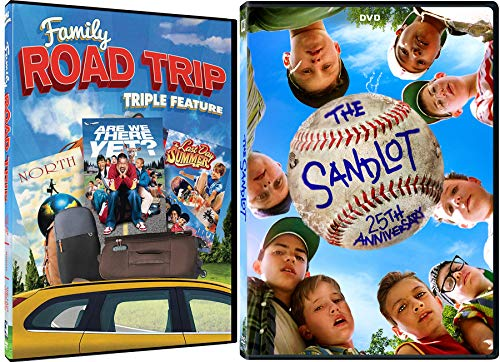 Summer Family School Sports & Trips Adventure Pack Sandlot 25th Anniversary + Are We there Yet? Last Day of Summer & North on the Road DVD 4 Feature Films