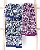 Bassetti Set Handtücher Life Grade Blau Weiß Schwamm 420gr/qm Paar Handtuch + Gästetuch