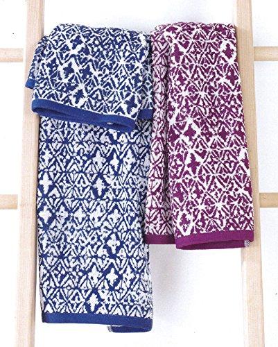 217e8ea438 Bassetti set asciugamani life grade viola bianco spugna 420gr/mq coppia  asciugamano + ospite