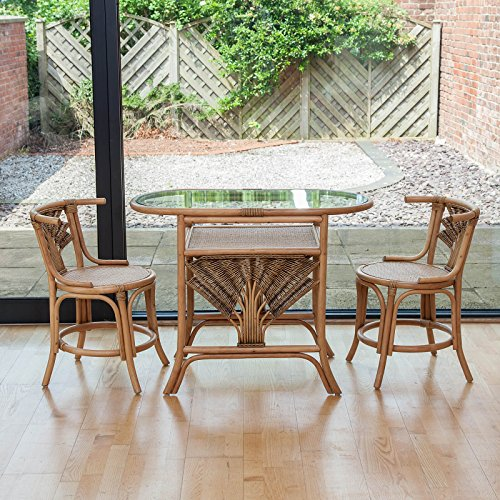 Alfresia Atlanta Cane and Wicker Conservatory Bistro Set