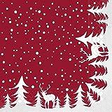 Sovie HORECA Serviette Marvin in Bordeaux   aus Tissue   Weihnachtsserviette festlich dekorieren   33 x 33 cm   100 Stück