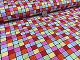 Multi Bright Farbe kariert hochwertige Qualität 100%