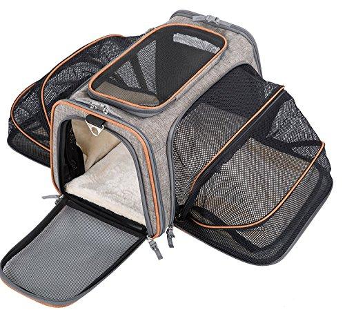 Movepeak - Transportín plegable para perros, gatos y cachorros aprobado por las...