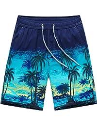 Everpert Hawaiian - Pantalones cortos de surf para hombre, estilo casual, L, Large