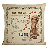Best LIFE Home Sofa Sets - STITCHNEST Life Quote Digitally printed, Jute Material, Beige Review
