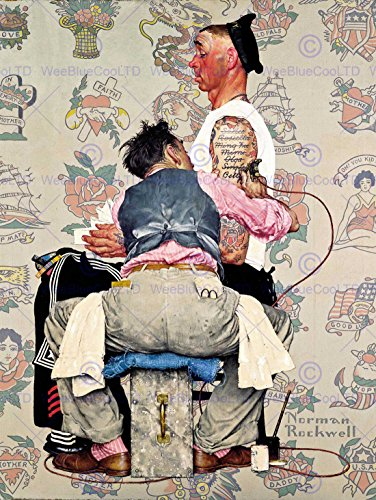 PAINTINGS PORTRAIT TATTOO PARLOUR SAILOR INK ARTIST USA IMPRIMER AFFICHE FINE ART PRINT POSTER 30x40cms CC1384