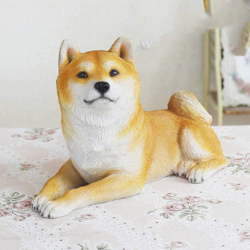 Niaofeces Resin Creative Gift Simulation Animal Akita Dog Shiba Inu Resin Crafts Ornamentsresin Animal Sculpture
