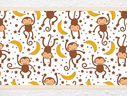 I-love-Wandtattoo b-10002 Kinderzimmer Bordüre 'Affen' Afrika Tiere Kinder
