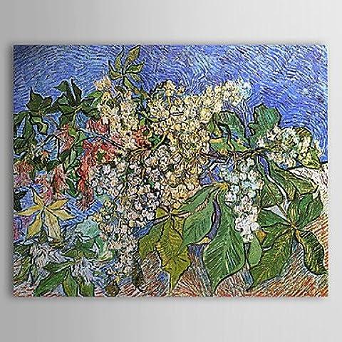 OFLADYH ® Pittura a olio famosa Rami in fiore castagno di Van Gogh