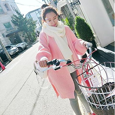 ZY Primavera e autunno usura. lanterna manica lunga sciolti maglioni. cappotto. cappotto. maglione. maglione Cardigan donna inverno , pink