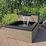 clgarden mtws1 mini pond with waterfall led lighting pump set for garden balcony patio CLGarden MTWS1 Mini Pond with Waterfall LED Lighting Pump Set for Garden Balcony Patio 618hCm8 QCL