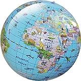 Brainstorm Kinder Lernspielzeug Geographic Earth aufblasbar Tier- Globus 30cm