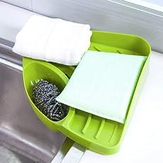 OSLC Creative Useful Multipurpose Must Have Corner Sink Wash Basin Storage Organizer Rack,Pack of 1, Random Color