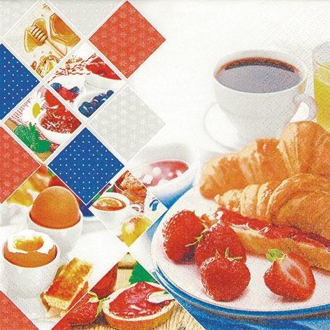 ood Morning 33 x 33 cm 3 lagig, Lunch Servietten Napkins Tissues, für den gedeckten Tisch, Party, Fest, Thema, Veranstaltung (Themen Für Veranstaltungen)