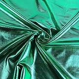 Metallic-Stoff Foliendruck mit Stretch grün 1,5m Breite