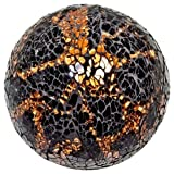 Mosaikkugeln, Groß, Schwarz/Bronzefarben, Mosaiksteine