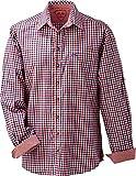 trenditionals Multicolor Karo Trachtenhemd Franzl 4XL-7XL, Größen:4XL, Farbe:rojalblau - Rot