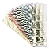 Schmuck-Bordüren, 10 Bogen in 10 Farben | selbstklebend, facettiert, irisierend | Ø 4mm, 29cm lang | Strass-Aufkleber, Glitzersteine zum Basteln, Scrapbooking, Home-Deko, DIY, Upcycling