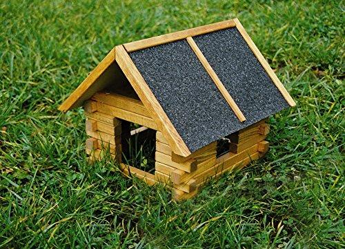 Für Blockhaus Dekor (Elmato 10354 Nagerschutzhütte Fichte-Blockhaus für Freilauf)