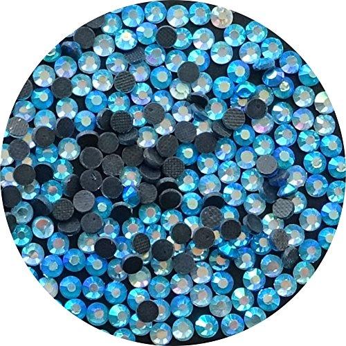 TSS Capri Blau Ab SS16–4mm 1000Stück DMC Glas Hot Fix Flat Back Eisen auf Strass mit Perlen–PREMIUM QUALITÄT