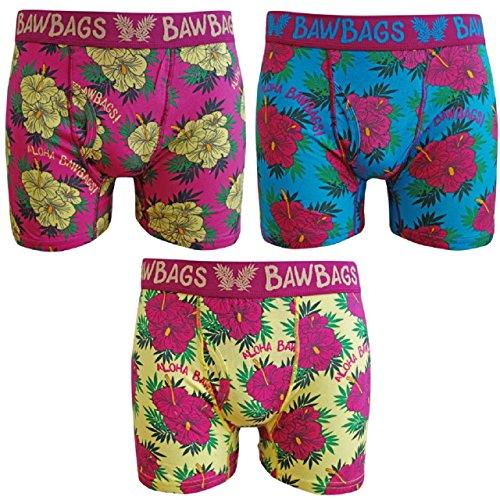 BawBags 3 pack Boxers - Aloha - Medium