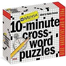 Mensa 10-Minute Crossword Puzzles 2018 Calendar