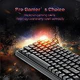 Drevo Gramr 84-Tasten Hintergrundbeleuchtung Edition Tenkeyless mechanische Gaming-Tastatur Rot-Schalter (Schwarz)