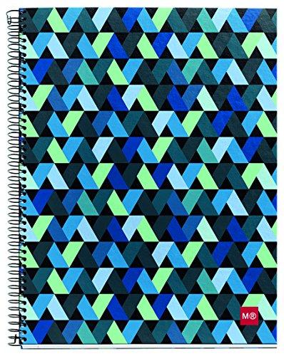 miquelrius-2720-cahier-4-couleurs-a-petits-carreaux-a6-140-feuilles-motif-origami